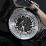 Ceas barbatesc mecanic Forsining - Silver