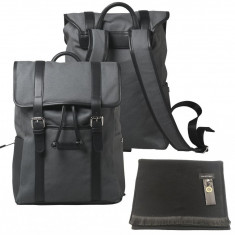 Set Men Travel Rucsac Cerruti 1881 Piele Canvas si Fular Grazie Filipeti