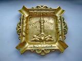 3958- Expozition de Liege 1939-Scrumiera veche in bronz masiv.