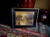Tablou autentic Szepesi Kuszka Jeno, Peisaje, Ulei, Impresionism