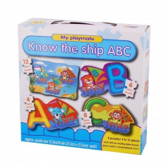 Puzzle 4in1 Model ABC - jucarie creativ educativa
