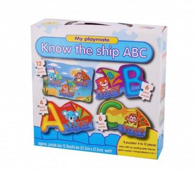 Puzzle 4in1 Model ABC - jucarie creativ educativa foto