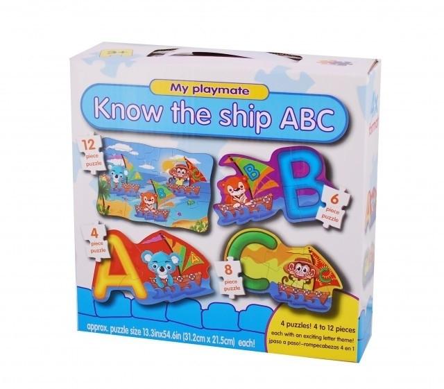 Puzzle 4in1 Model ABC - jucarie creativ educativa