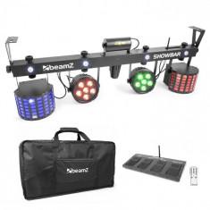 Beamz Showbar 2X PAR 2X BUTTERFLY PAR R / G LASER inclusiv comutator de picior și telecomandă