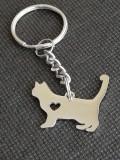 Breloc Pisica 2D pisicuta iubitori de animale de companie feline accesorii cadou