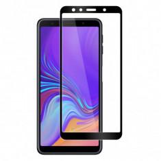 Folie protectie pentru Samsung Galaxy A7 2018 din sticla securizata full size, negru foto