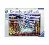 Puzzle Ravensburger Colaj New York, 2000 piese