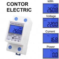 CONTOR ELECTRIC monofazat pe sina de lumina smart AFISAJ DIGITAL inteligent pret
