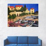 Tablou Canvas, Barci la malul Apei - 80 x 100 cm