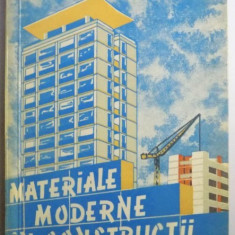 MATERIALE MODERNE IN CONSTRUCTII de AL. NEGOITA , 1960