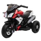 HOMCOM Motocicleta Electrica Copii 3-8 Ani cu Lumini Muzica Baterie 6V Negru Rosu