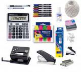 Set Birou - Perforator, Capsator, Capse, Decapsator, Textmarker, Calculator, Notes, Pix, Marker, Agrafe, Creion, Corector