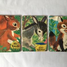 Lot 3 carticele povesti Editura Tineretului 1963 Rita Veverita, Vulpisoara, Cius