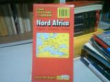 NORD AFRICA: ALGERIA, MAROC, TUNISIA - HARTA TURISTICA