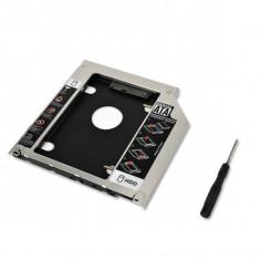 Hdd caddy adaptor unitate optica la hard disk SATA 12.7mm