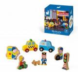Set de joaca din lemn Mini povesti - Orasul