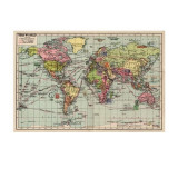 World Map Gift Wrap | Wild & Wolf