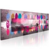Tablou pictat manual - Tendinte de culoare - 120 x 40 cm, Artgeist