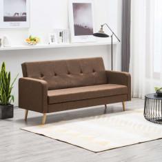 Canapea din material textil maro