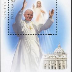 Polonia, beatificare papa Ioan Paul al 2-lea, bloc, 2011, MNH