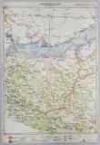 HARTA ZONEI CALARASI - SILISTRA - BAZARGIC , LITOGRAFIE de M.D. MOLDOVEANU , 1936