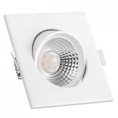 Spot LED 5W 6000K Alb rece Patrat Alb