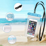 Husa de telefon impermeabila, cu touch screen, transparenta, o gentuta pentru telefon perfecta pentru activitati in aer liber, inot, scufundari, compa
