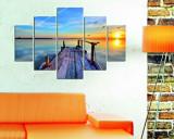 Tablou decorativ multicanvas Destiny, 5 Piese, Peisaj, 247DST1909, Multicolor