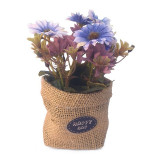 Saculet decor - crizanteme 7x16 cm