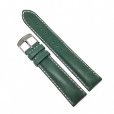 Curea de ceas Verde - Piele Naturala - 18mm, 20mm - GR1212