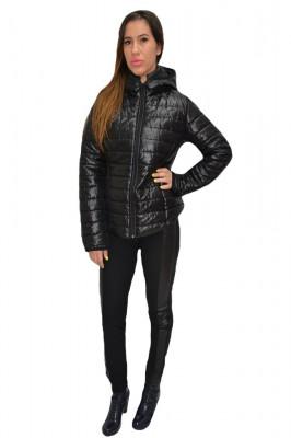 Jacheta moderna, simpla, din fas, in nuanta negru foto