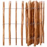 VidaXL Gard din șipci, 90 x 500 cm, lemn de alun