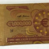 1,000,000, one million euro gold foil banknote