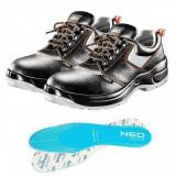 Cumpara ieftin Pantofi de lucru din piele, S1P, SRA, talpici/branturi, marimea 44, NEO