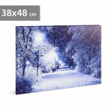 FAMILY POUND - Tablou cu LED - peisaj de iarna, 38 x 48 cm