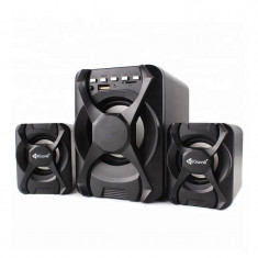 Boxe Kisonli 2.1 U-2500BT, Bluetooth, telecomanda, 5W+2x 3W, alimentare USB,...