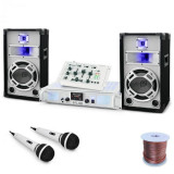 "Electronic-Star DJ PA Set de boxe și amplificator ""Polar Fox"" 1500W"