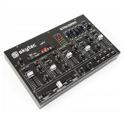 Skytec STM-2290 6-canal mixer Bluetooth SD MP3 USB FX foto