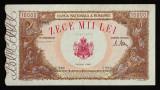 Romania, 10000 lei 1946_pliu pe mijloc_seria U.2466-0080