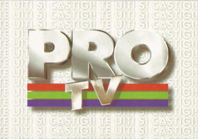 România, PRO TV, carte poştală necirculată foto