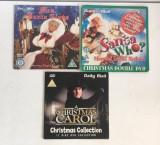 *DD- Lot 3 DVD filme Craciun, A Christmas Carol, Santa who?, Mrs. Santa Claus, Engleza