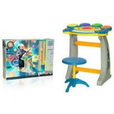 Orga multifunctionala cu tobe si scaunel pentru copii BB22B