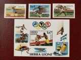 Sierra leone - Timbre sport, jocurile olimpice 1984, nestampilate MNH, Nestampilat