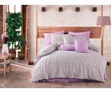 Lenjerie de pat King Ranforce Lily Purple Double
