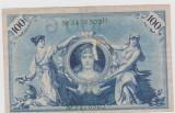 100 MARCI 1908/SERIE SI NR. CU VERDE/VF