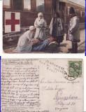 Bucovina-militara, Crucea Rosie,gara,tren-spital-WWI, WK1-cenzura militara, rara, Circulata, Printata