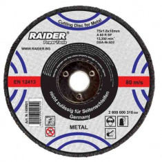 Disc pentru taiere metal 75 x 1.6 x 10 mm Raider Power Tools