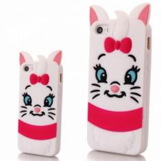 Carcasa protectie spate 3D pisica din silicon pentru iPhone 6 Plus 6S Plus