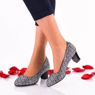 Pantofi dama eleganti din piele Ninna Art A32 color foto