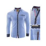 Cumpara ieftin Camasa pentru barbati, flex fit, albastru deschis, casual, cu guler - sedna zenith II